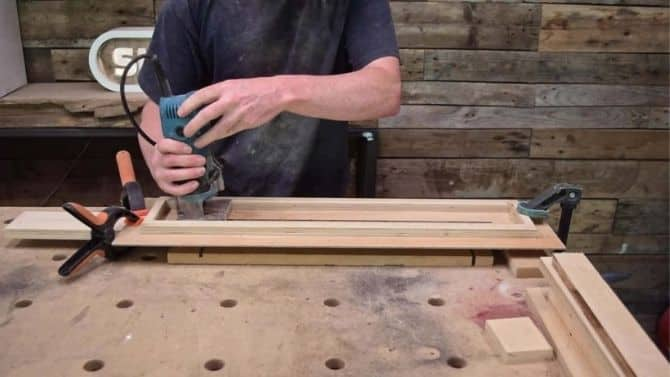 Easy DIY adjustable 3 rolls outfeed stand