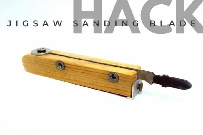 Unique jigsaw sanding blade for hard to reach places (in 5 simple steps)