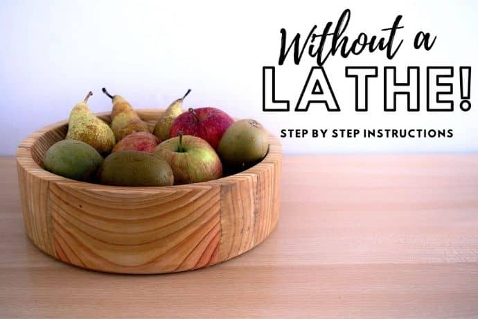 How to make a wooden bowl without a lathe   N°1 must-see simple hack