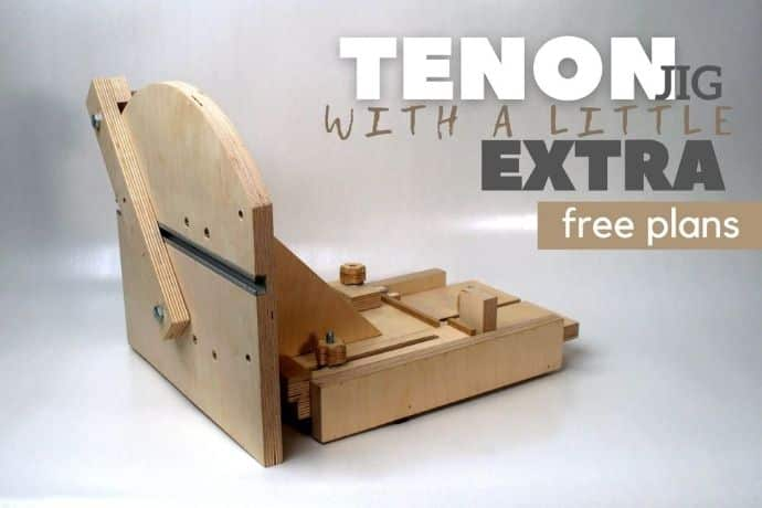 Genius tenon jig like no other   PART 1   FREE PLANS