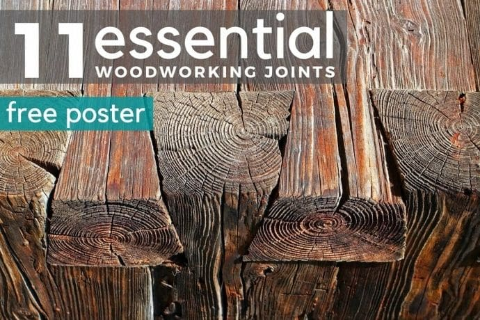 11 essential types of woodworking joints you need to know   FREE POSTER