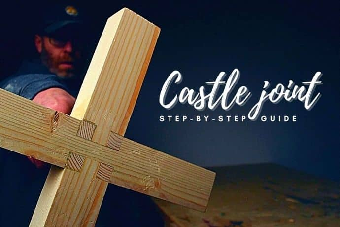 How to make The Castle Joint step by step   Best 3 way wood joint guide