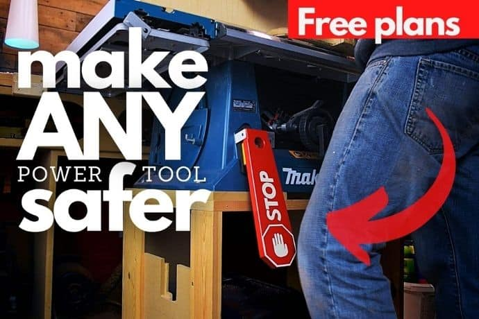How to make a power tool safety switch   FREE TEMPLATE
