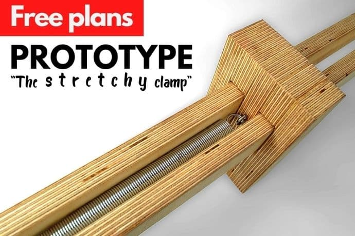 Bar clamp Prototype: The Stretchy Clamp   A stunning new way of clamping?   FREE PLANS