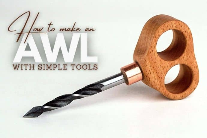 How to make a cool & unique awl using old scraps? NO LATHE!