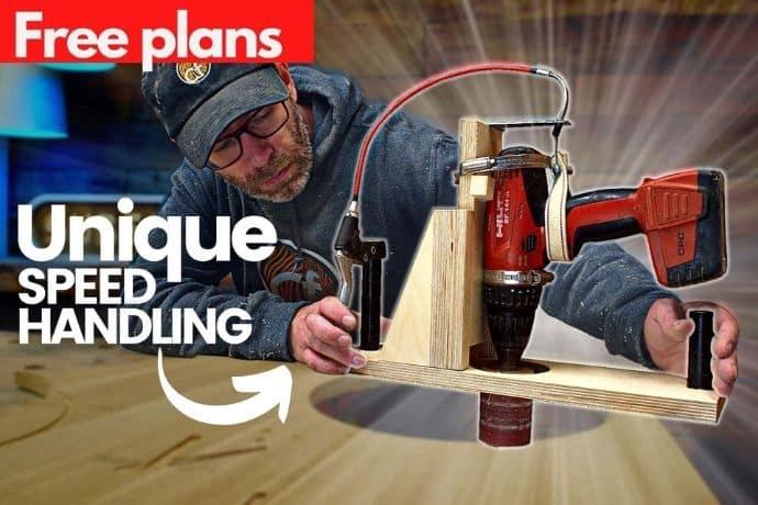 How to make a portable Drum sander machine   FREE PLANS