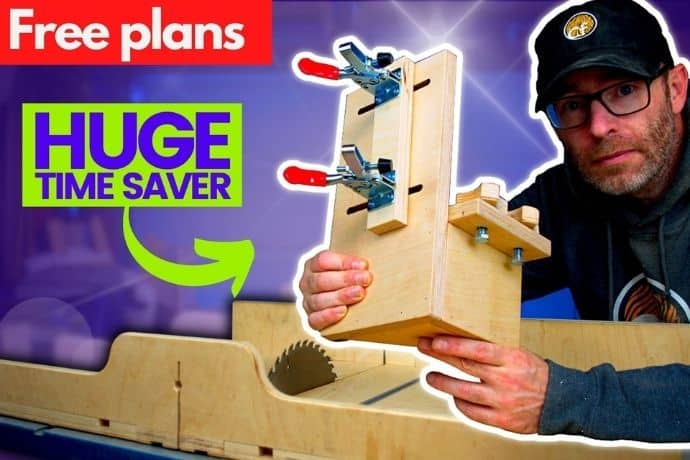 How to make a half-lap joint jig for faster workflow   FREE PLANS